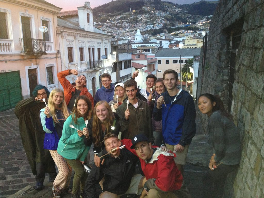 View into Quito old town