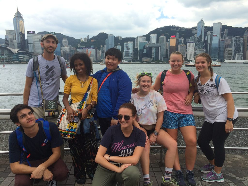 The Shiva crew making the most of their layover in Hong Kong.